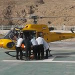 پرواز بالگرد اورژانس هوایی شیراز به فراشبند برای نجات جان بانوی ۷۹ ساله