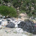 مظلومیت طبیعت زیبای منطقه «بوان» ممسنی در حصار زبالهها