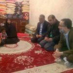 استاندار دستور سرکشی از خانواده فرزند شهید فرهادی را صادر کرد+تصاویر