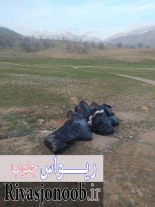 جمع آوری زباله بعد از شادی هواداران مهدی روشنفکر